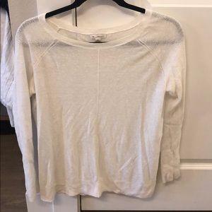 Gap sheer cream sweater